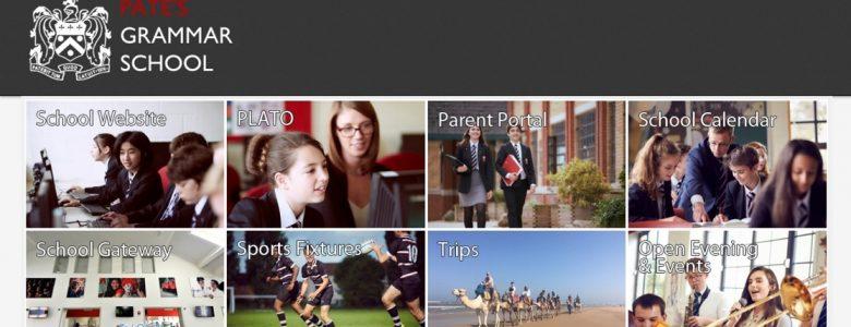 Screenshot of Pate's Grammar School website