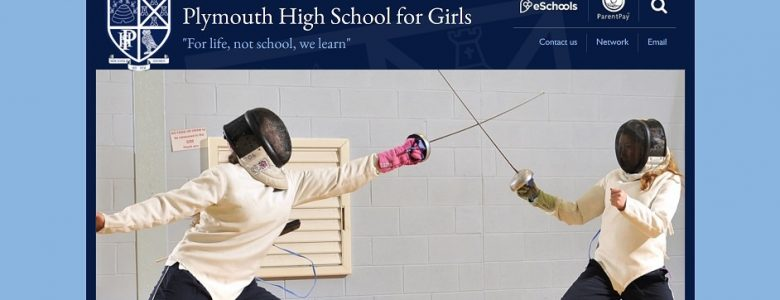 Screenshot of Plymouth High School for Girls website