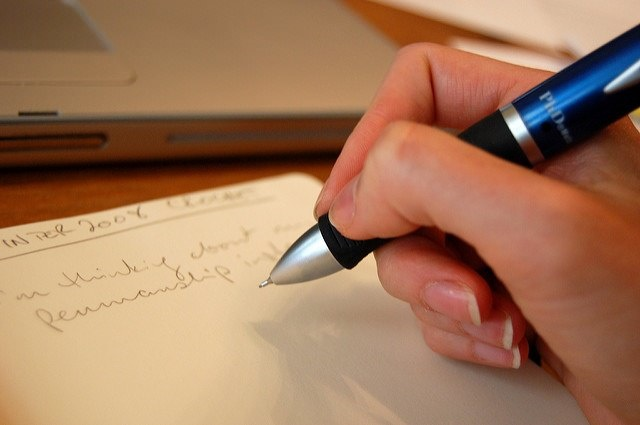 Photo of a pen and paper