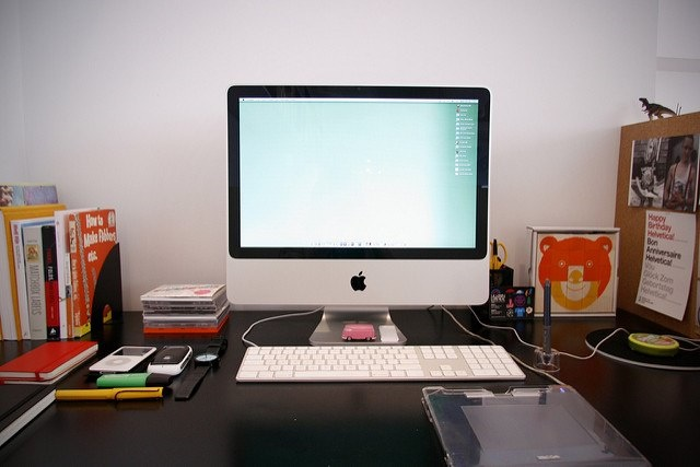 Photo of a tidy desk space