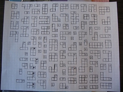 Photo of a crossword puzzle