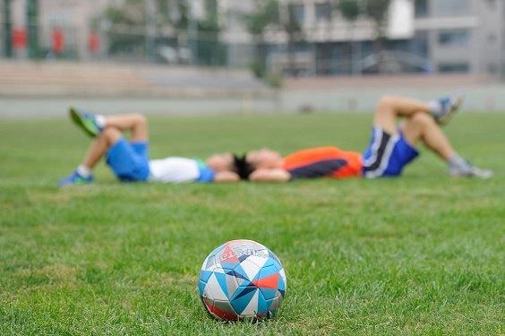 Photo of kids playing football