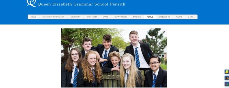 Screenshot of the Queen Elizabeth Grammar School Penrith website