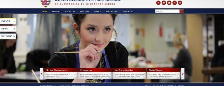 Screenshot of the Queen Elizabeth's High School 11 Plus exam