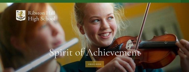 Screenshot of the Ribston Hall High School website