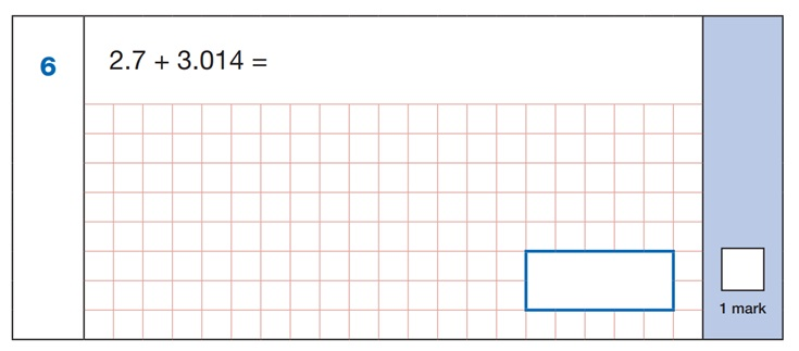 SATs Mental Maths Sample Question 1