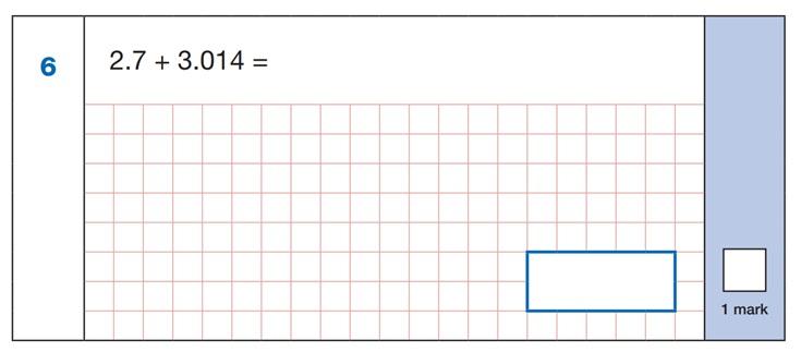 SATs Mental Maths Sample Question 1