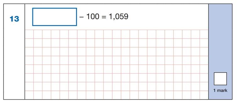 SATs Mental Maths Sample Question 5