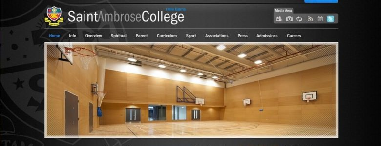 Screenshot of the St Ambrose College website