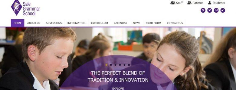 Screenshot of the Sale Grammar School website