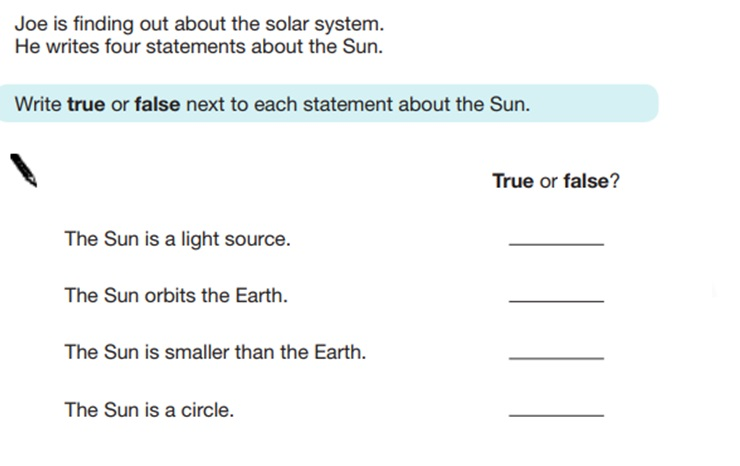 KS2 SAT Science Sample Question 13