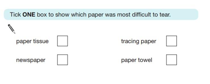 KS2 SAT Science Sample Question 7