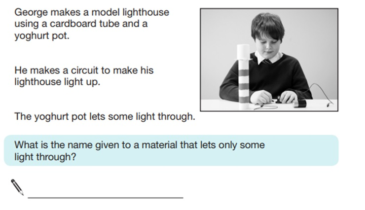 KS2 SAT Science Sample Question 8