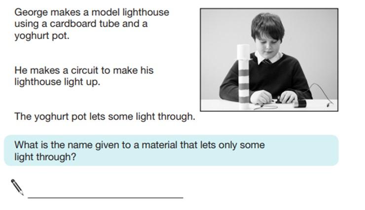 KS2 SAT Science Sample Question 8