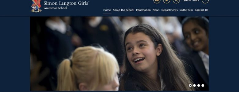 Screenshot of the Simon Langton Girls' Grammar School website