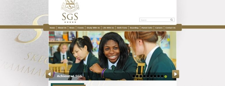 Screenshot of the Skegness Grammar School website