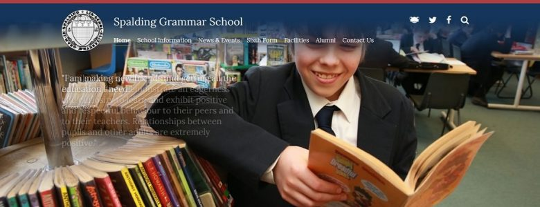 Screenshot of Spalding Grammar School website