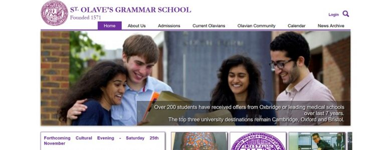 Screenshot of the St. Olave's Grammar School
