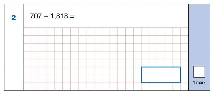 SATs Arithmetic Question 1
