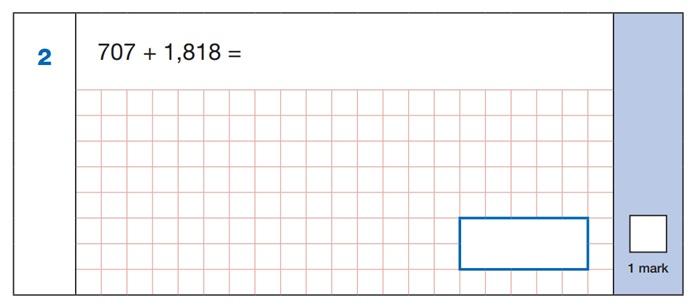 SATs Arithmetic Question 1