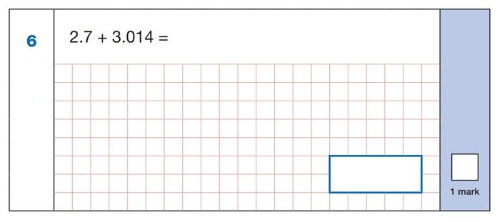 SATs Arithmetic Question 2
