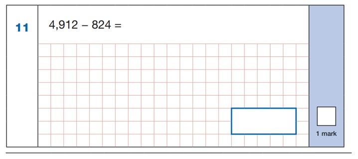 SATs Arithmetic Question 4