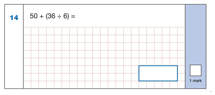 SATs Arithmetic Question 5