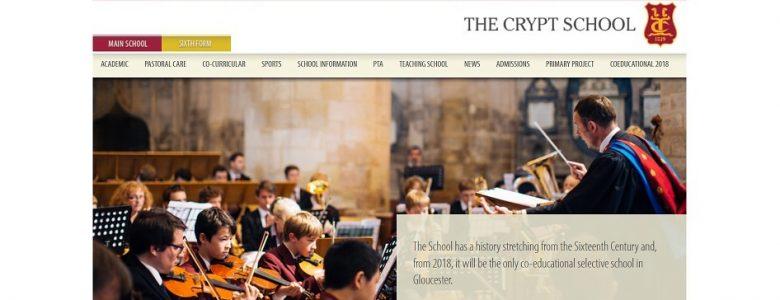 Screenshot of The Crypt School website