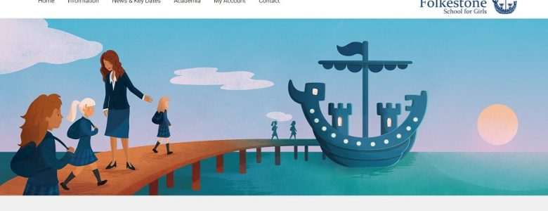 Screenshot of The Folkestone School for Girls website