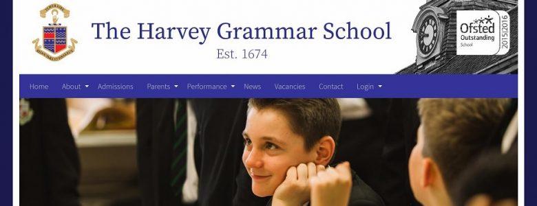 Screenshot of The Harvey Grammar School website