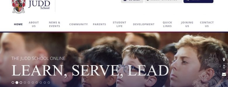 Screenshot of The Judd School website