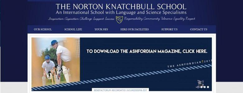 Screenshot of the Norton Knatchbull School website
