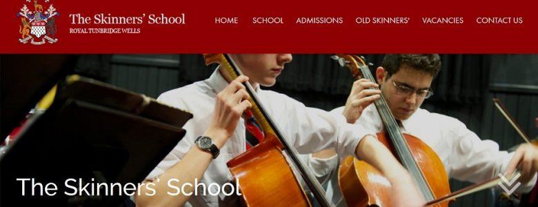 Screenshot of The Skinners' School website