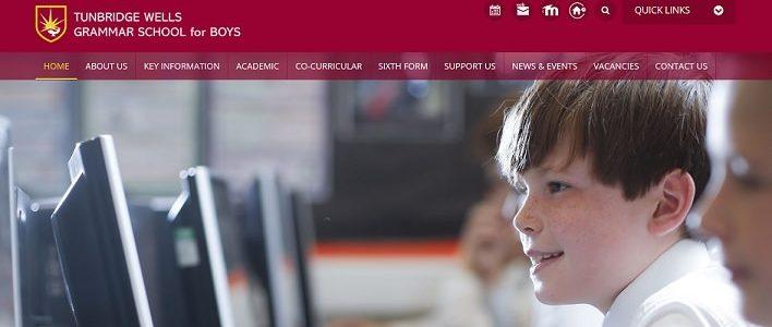 Screenshot of the Tunbridge Wells Grammar School for Boys website