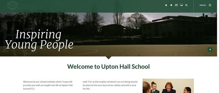 Screenshot of the Upton Hall School website