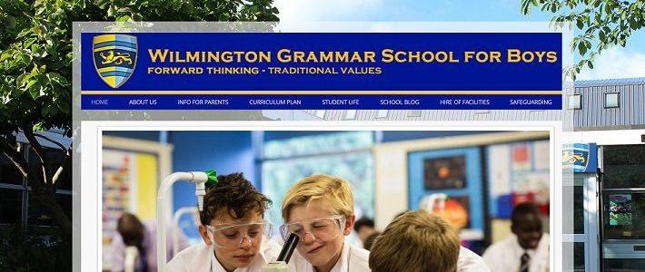 Screenshot of the Wilmington Grammar School for Boys website