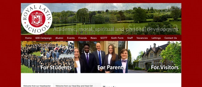 Screenshot of the Royal Latin School website