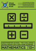 Detailed step-by-step mark schemes for Westminster maths 14-16