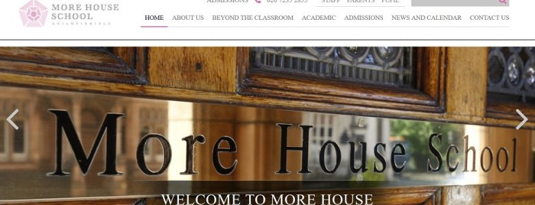 screenshot of More House School website