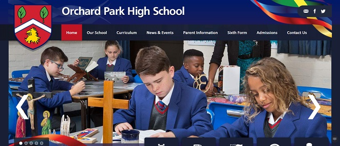 Screenshot of the Orchard Park High School website