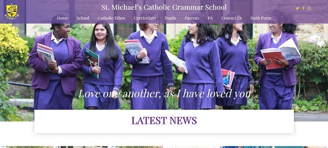 Screenshot of St Michael's Catholic Grammar School