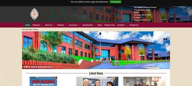 Screenshot of Abbey Christian Brothers' Grammar School