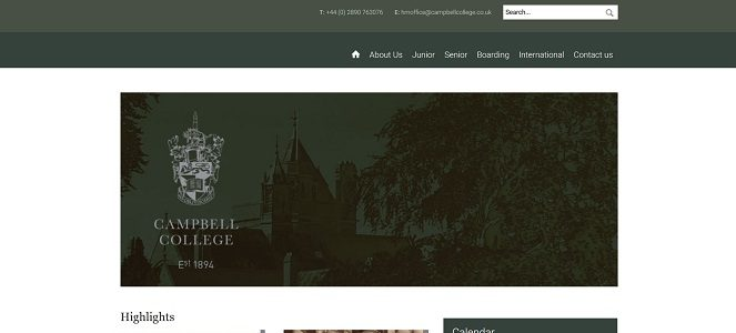 Screenshot of Campbell College