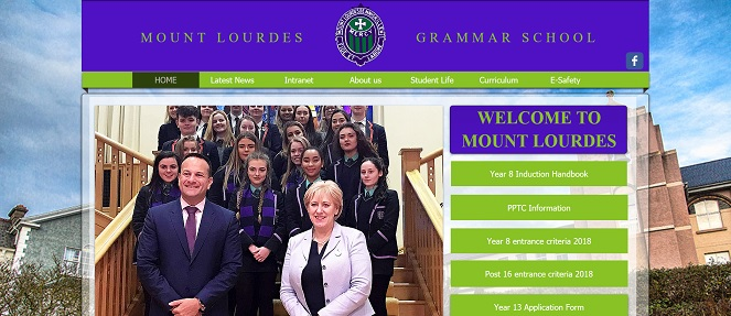 Screenshot of Mount Lourdes Grammar School