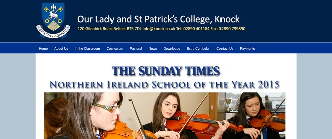 Screenshot of Our Lady and St Patrick's College, Knock