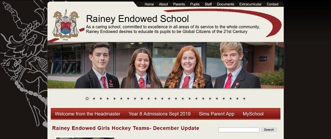 Screenshot of the Rainey Endowed School