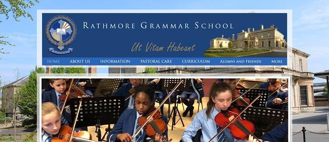 Screenshot of Rathmore Grammar School