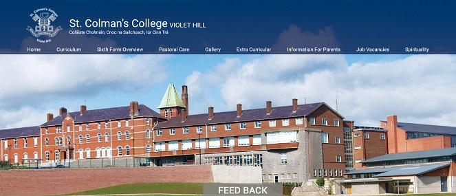 Screenshot of the St Colman's College website