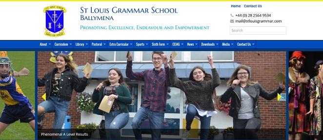 Screenshot of the St Louis Grammar School Ballymena