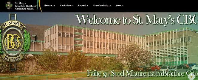 Screenshot of St Mary's Christian Brothers' Grammar School website